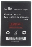 Аккумулятор Fly BL3816 для iQ4504 Quad EVO Energy 5, 3000 mAh