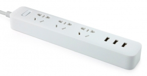 Сетевой удлинитель Xiaomi Mi Power Strip 3 3x220V и 3xUSB, 1,8м White (NRB4014CN)