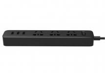 Сетевой удлинитель Xiaomi Mi Power Strip 3 3x220V и 3xUSB, 1,8м Black (NRB4015CN)