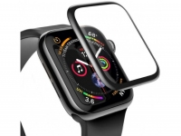3D Защитное стекло Apple Watch 1, Watch 2, Watch 3 42mm, 0.23mm, Full-screen Curved Tempered Glass, черное, Baseus (SGAPWA4-D01)